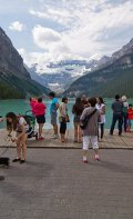 Very popular spot for visitors to Lake Louise!