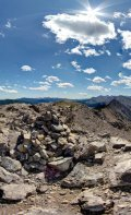 360 Degree view from the summit of Mount Baldy.