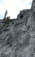 Sep. 2009 - Some of the scrambling terrain on Rimwall.