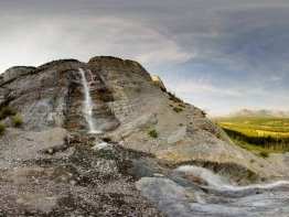 360 degree panorama at Cascade Falls.
