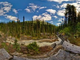360 degree panorama of the rapids on the Yoho River.