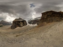 360 Degree view from the Plain of Six Glaciers