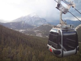 From the top you can choose to hike down the same trail back, take the trail down underneath the gondola, or what we suggest is to just hop on a gondola and get a free ride down! To end off your day on a perfect note, take a dip in the Banff Hot Springs at the bottom of the gondola.
