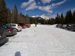 Parking lot. Trailhead is on the far side behind the gate.