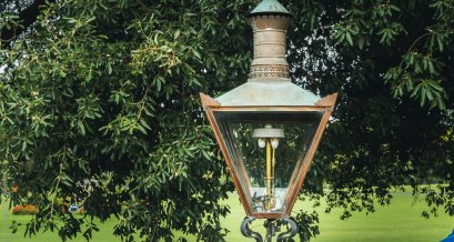 Authentic gas street lamps