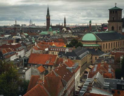 Looking from the top of the Round Tower