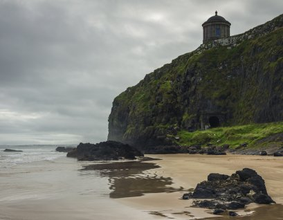 Mussenden Temple perched above the cliffs of the North Atlantic