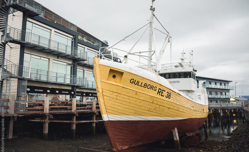 Gullbord RE38 sitting in dry dock
