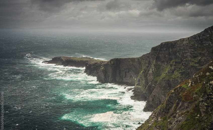 The Fogher Cliffs are 600ft tall sea cliffs